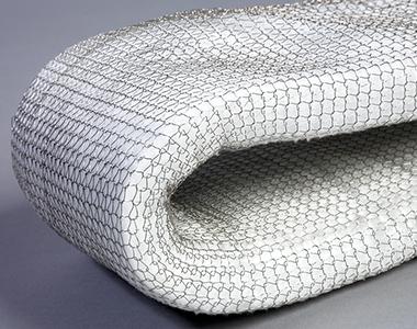 Fibra cerámica en malla metálica